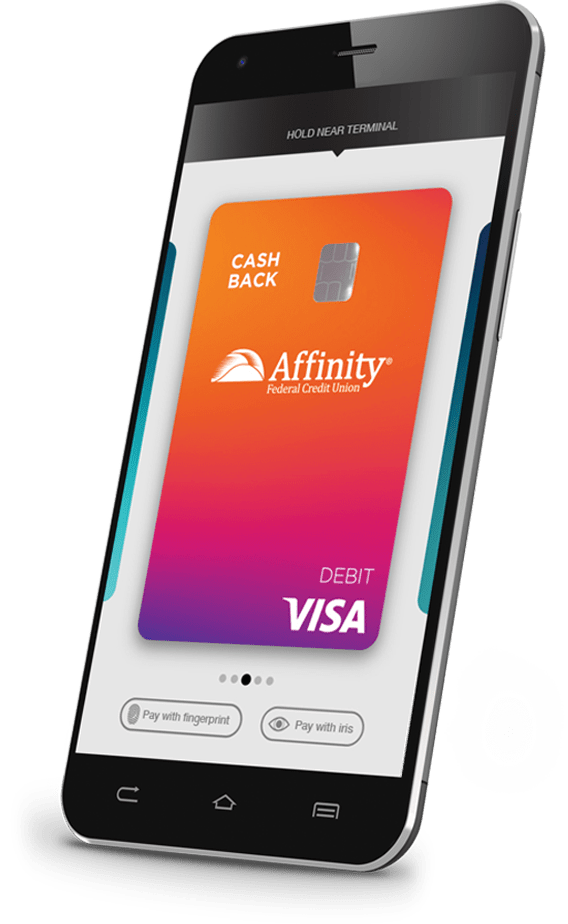 phone with digital cash back debit card